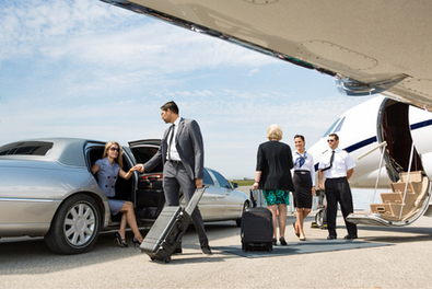 Executive Transportation in a stretch limo with Lauderdale Limos